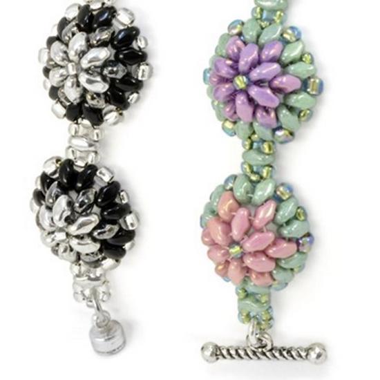 Free Beading Pattern Bachelor Buttons Bracelet