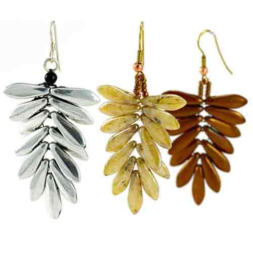 Free Beading Pattern Dagger Fern Earrings
