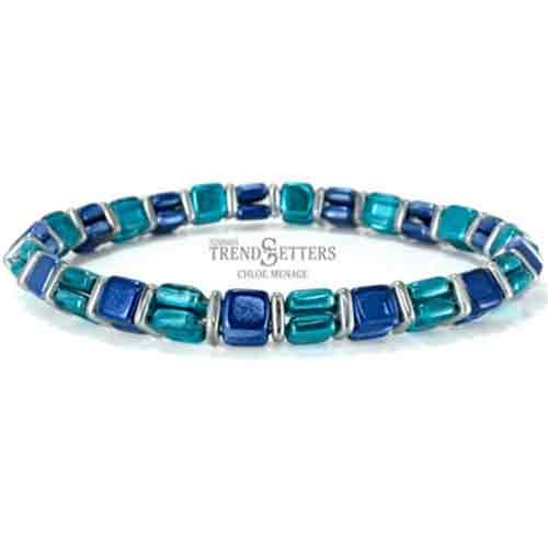 Free Beading Pattern Double Tile Bangle Bracelet