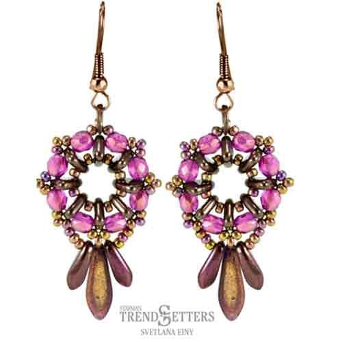 Free beading Pattern Heirloom Earrings