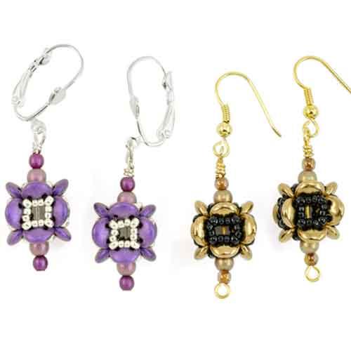 Free Beading Pattern Lentil Lantern Earrings