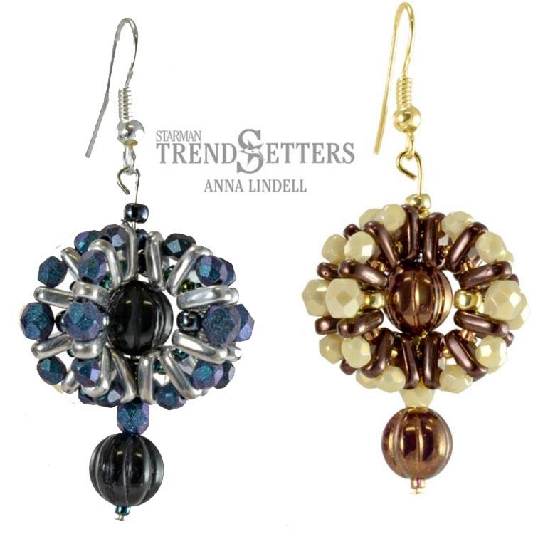 Spheric Czech Beads Earrings